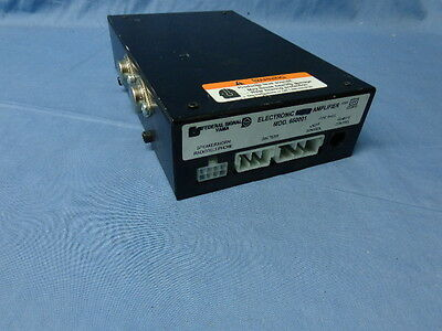 Federal Signal Electronic Amplifier Model 650001