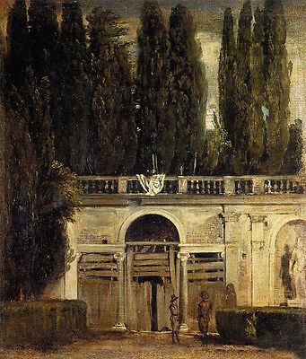 """Beautiful Oil painting Diego Velazquez - Nice landscape in Rome canvas 24""""x36"""""""