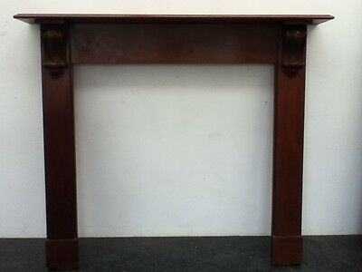 Antique Victorian Style Hand Carved Mahogany Fireplace Surround Mantel (BC196)