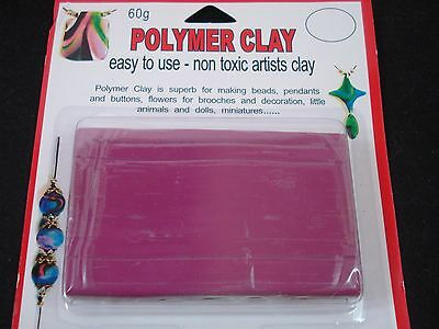 Modelling Polymer Clay Art/Craft Oven Bake 60g Mulberry Artist FREE POSTAGE