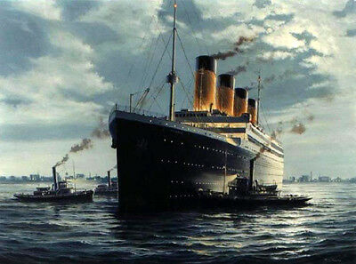 "Dream-art oil painting seascape Titanic on ocean canvas 36"" hand painted canvas"