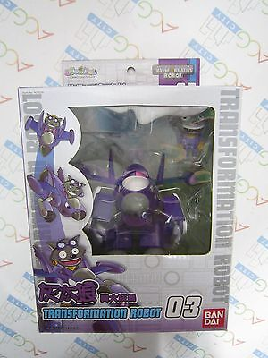 Pleasant Goat and Big Big Wolf Wolffy Purple Jet Transformation Robot 03 Figure