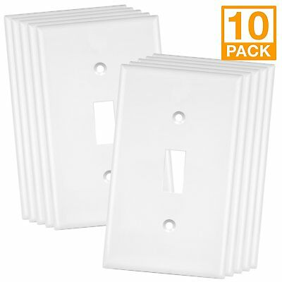5PC Decorator 15A Switches 3-Way Rocker Switch AC Light Switch White