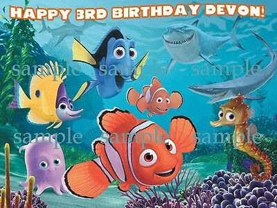 Finding NEMO Edible ICING Image Birthday CAKE Topper Party Decoration