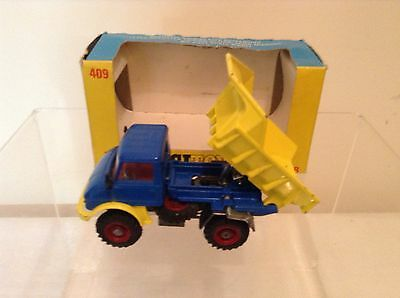 CORGI 409 UNIMOG REAR DUMPER Near Mint in Ex+ Box with No Celophane