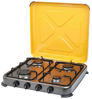 GASMATE TURBO 4 BURNER STOVE (CS4095) Gas Camping Camp Portable Cooker