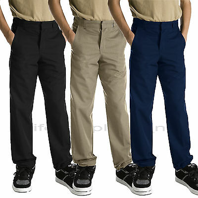 Dickies Pants Boys School Uniforms Pants Reinforce knee Black Navy Khaki Uniform