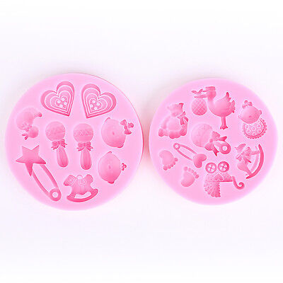 3D Baby Shower Silicone Mold Mould Fondant Cake Decoration Baking Tool