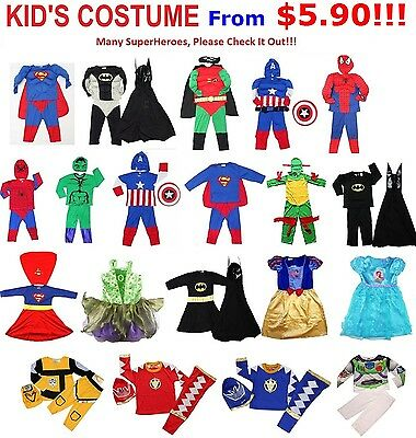 New Children Costume Party Dress Mask Cape Birthday Outfits Toys Kids Boys Girls