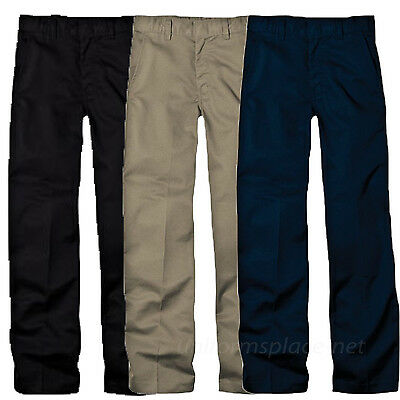 Dickies Pants School Uniforms Boys Flexwaist Flat front Adjustable Pant KP321