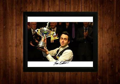 Ronnie Osullivan The Rocket Signed Framed Pp A4 Print Snooker Gift Ideas Vintage