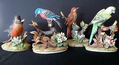 ANDREA BY SADEK BIRDS (LOT OF 4) MINIMUM DAMAGE ON EACH. SMALL PRICE TO SELL