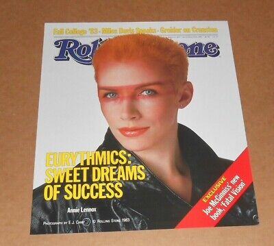 Eurythmics Sweet Dreams Rolling Stone Magazine 1983 Original Poster 16x20