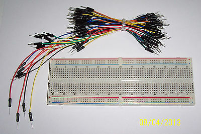 Mb-102 Solderless Breadboard , 830 Tiepoints And A 65 Pc Set Of Jumper Wires