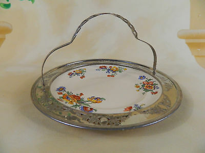 Vintage Umberton Farberware Leigh Potters Metal Handled and Framed Plate