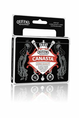 5x NEW Canasta Queen's Slipper Double Playing Cards 2 Decks Bridge Size points