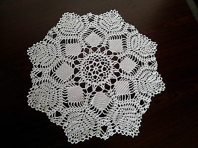 Crochet handmade doily. Perfect napkin. Knit.