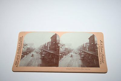 USA New York Noted Bowery  Orig. Foto Stereo, Stereographie  , 18x9cm /i8772