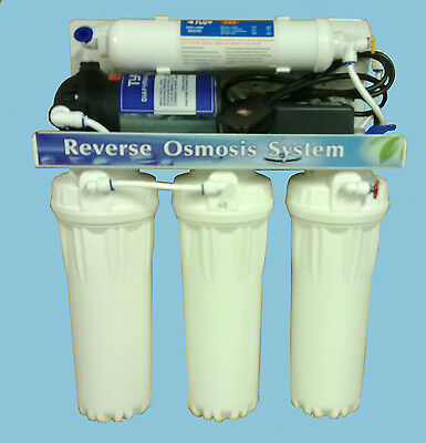 REVERSE OSMOSIS DRINKING WATER SYSTEM WITH 80psi BOOSTER PUMP