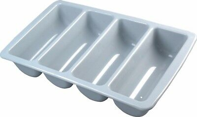 Chef Set 4 Division Restaurant/Cafe Cutlery Tray, Grey, Plastic - 7511