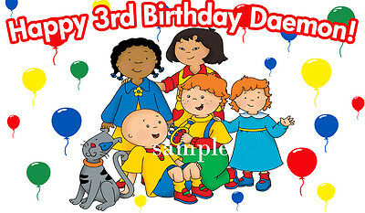 CAILLOU Edible Icing Image Birthday CAKE Topper 1/2 SHEET Cailou