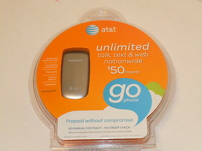 Samsung SGH A107 Gsm Cell PHONE No-Contract Mobile Phone Silver NEW