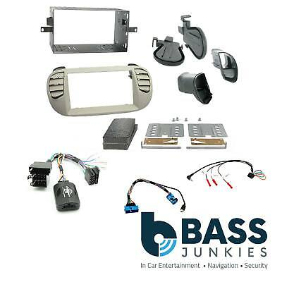 Fiat 500 2007-15 Car Stereo BIEGE Double Din Fascia & Steering Interface CTKFT05