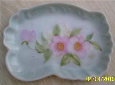 Pretty Antique Hand Painted Signed Trinket Dish