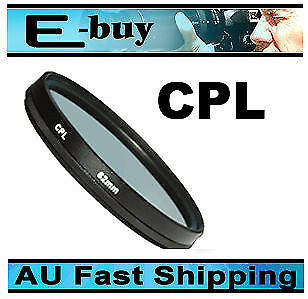 55mm Double Thread CPL circular polarising filter FOR canon nikon sigma tamron