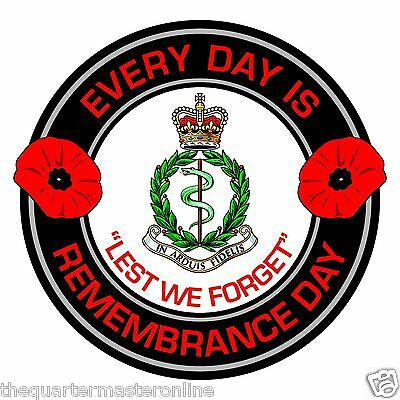 RAMC Remembrance Day Inside Car Window Clear Cling Sticker