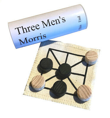 Three Men's Morris historic board game; great introduction to historic games