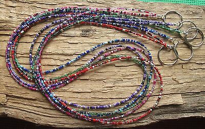 CHAOS Beaded Lanyard .. Choose color: Blue - Green - Pink - Purple - Red