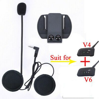 Microphone/Speaker Headphone Headset & Clip Accessory for E Bluetooth Interphone