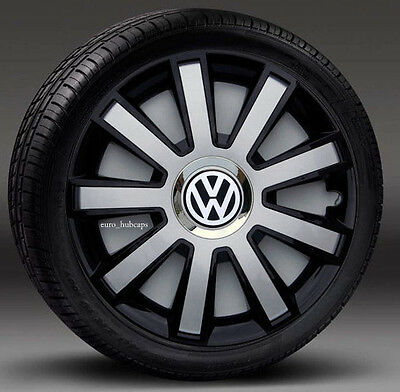 """4x15"""" wheel trims, Hub Caps, Covers to fit Vw Transp.T4,Golf,Polo,Touran,Caddy"""
