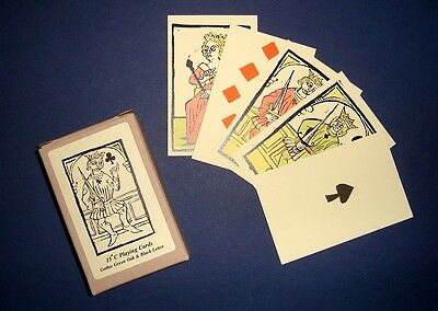 Medieval fifteenth century/C15th historic reproduction early playing cards