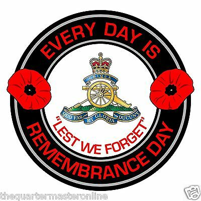 Royal Artillery Remembrance Day Inside Car Window Clear Cling Sticker