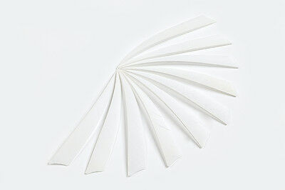 100Pcs Shield Turkey Feathers  Hunting Arrow White  Fletching Handmade 5 Inches