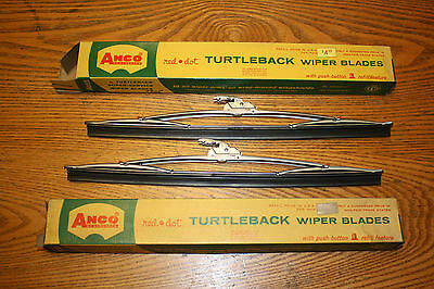 NOS ANCO 12 INCH TURTLEBACK RED DOT WIPER BLADES # 800 OEM 1955 56 57 58 59 60