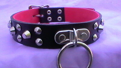 high gloss pvc bitch collar fetish bondage collar 24mm wide with hanging d ring
