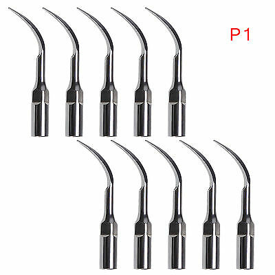 10* Dental Ultrasonic Piezon Scaler Perio Tips P1 Fit EMS/WOODPECKER Handpiece