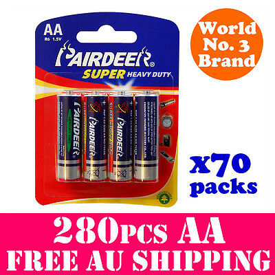 280PCS AA Batteries Super Heavy Duty Battery Premium Quality PAIRDEER BB 2018