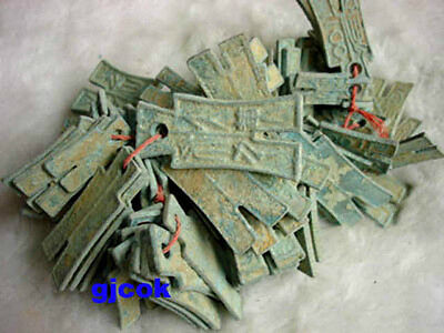 Collectibles Asian Chinese ancient a string 100 different bronze coins