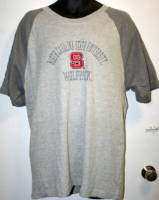 North Carolina NC State Large T Shirt Wolf Pack Embroidered Varsity NCAA Raleigh