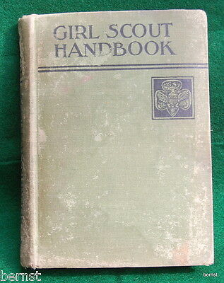 Vintage 1936 Girl Scout Handbook - Well Used