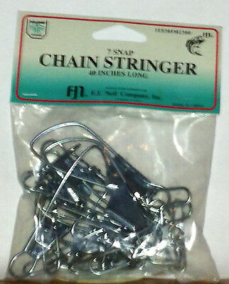 Fishing Supplies F. J Neil Chain Stringer 7 snap 40 inches long