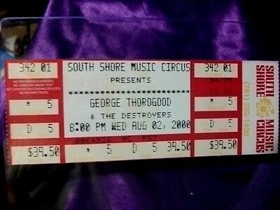Concert Ticket  George Thorogood -Boston Ma.9/2/2002