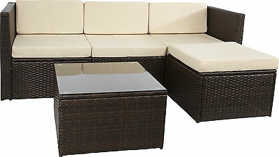 gartensofa schwarz sitzgarnitur polyrattan lounge outdoor rattan sofa garten eur 649 90. Black Bedroom Furniture Sets. Home Design Ideas