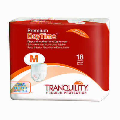 Tranquility Premium DayTime Disposable Absorbent Underwear Med Case of 72- #2105