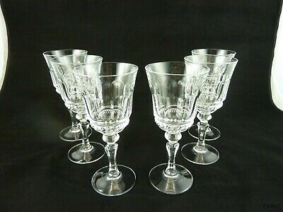 """Clear Glass Panels Multisided 6 Oz. Water Goblet 6 1/2"""""""