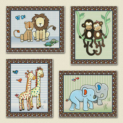 Noah's Ark, Jungle Animals, Nursery/Baby/Kids Wall Art/Decor. M2M s.s noah